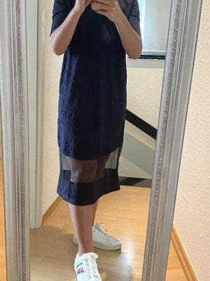 COS Vestido a media pierna azul oscuro-azul