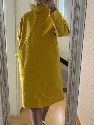 COS Robe mi-longue jaune citron vert-jaune