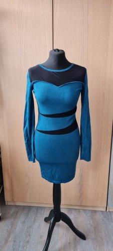 Melrose Longsleeve Dress black-cadet blue