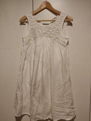 Esprit Robe mi-longue blanc