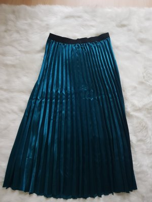 Pleated Skirt petrol-cadet blue