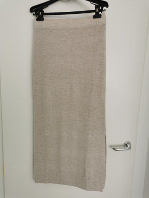 Mango Suit Spódnica midi kremowy Len
