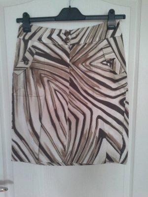 Mexx Spódnica midi czarno-brązowy-kremowy Bawełna