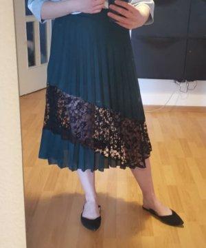 Asos Plisowana spódnica ciemnozielony