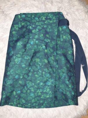 COS Wraparound Skirt petrol-dark green