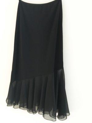 Jupe asymétrique noir polyester