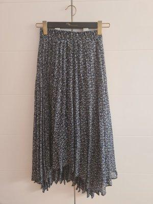 H&M Asymmetrische rok donkerblauw-azuur