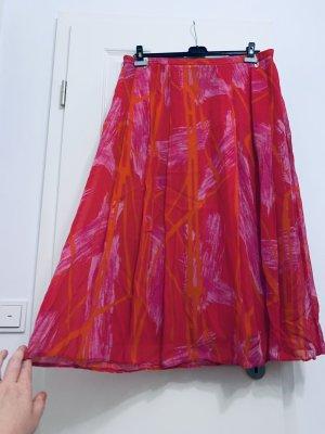 Laura Berlucchi Rok met hoge taille framboosrood-rosé Viscose