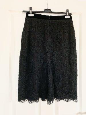 Falda de encaje negro Algodón