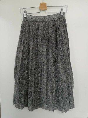 Calliope Midi Skirt silver-colored mixture fibre
