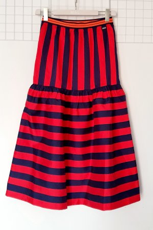 Armani Exchange Jupe mi-longue rouge-bleu foncé viscose
