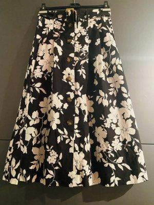 Hallhuber Midi Skirt white-black