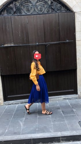 Nakd Midi Skirt blue