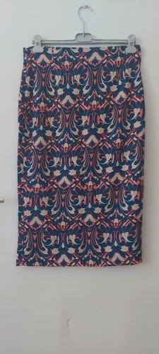 Zara Woman Spódnica midi stalowy niebieski