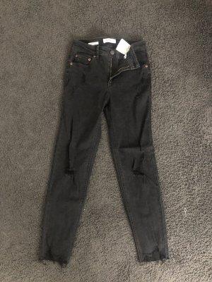 Midwaist Jeans schwarz gr.34 für Mädchen