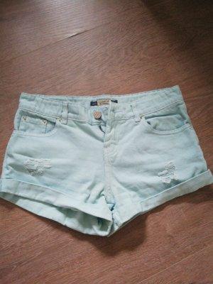 Pull & Bear Pantalón corto de tela vaquera multicolor