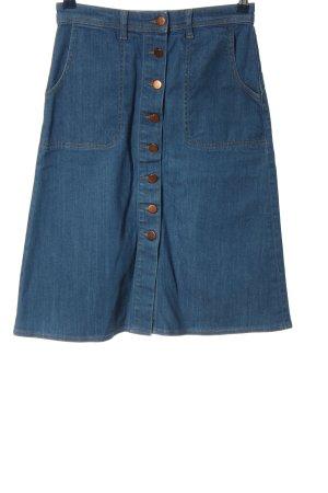 Mih jeans Gonna di jeans blu stile casual