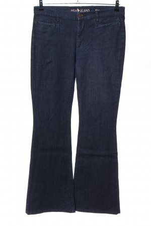 Mih jeans Jeansschlaghose blau Casual-Look