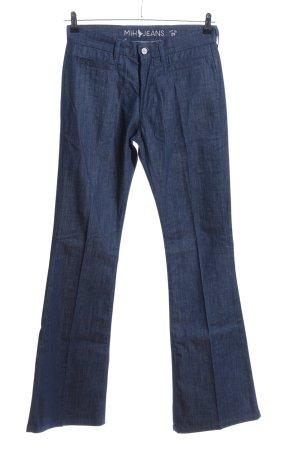 Mih jeans Vaquero acampanados azul moteado look casual