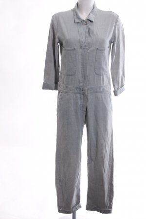 Mih jeans Jumpsuit hellgrau Business-Look