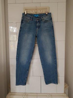 Mih jeans Vaquero estilo zanahoria azul celeste-azul aciano