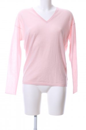 V-Neck Sweater pink casual look