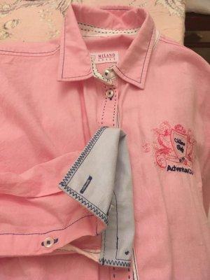 Milano Long Sleeve Blouse pink-cornflower blue