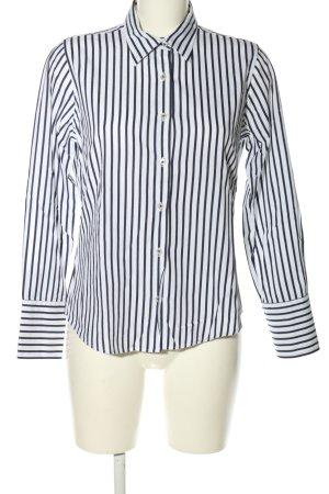 Milano Hemd-Bluse weiß-blau Streifenmuster Casual-Look