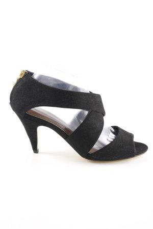 Milano High Heel Sandaletten schwarz Elegant