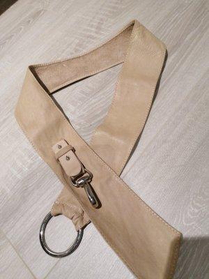 Milano Italy Cinturón de cadera marrón claro-crema