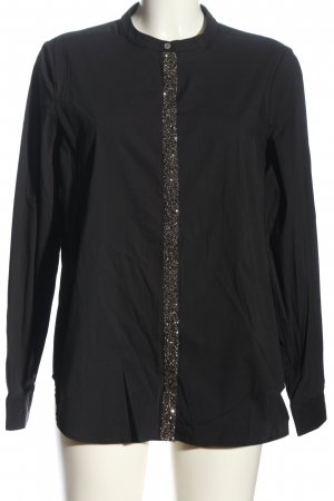 Milano Italy Hemd-Bluse schwarz Casual-Look