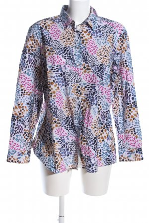 Milano Italy Hemd-Bluse Allover-Druck Business-Look