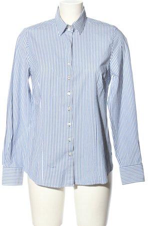 Milano Italy Hemd-Bluse weiß-blau Allover-Druck Business-Look