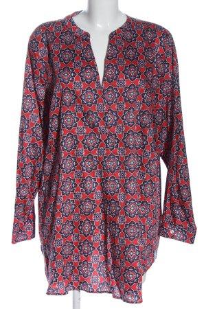 Milano Italy Hemd-Bluse abstraktes Muster Elegant