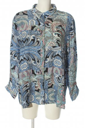 Milano Italy Hemd-Bluse abstraktes Muster Casual-Look