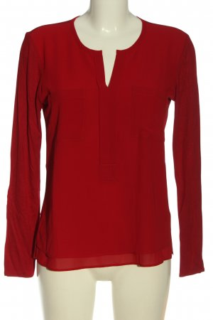 Milano Italy Langarm-Bluse rot Casual-Look