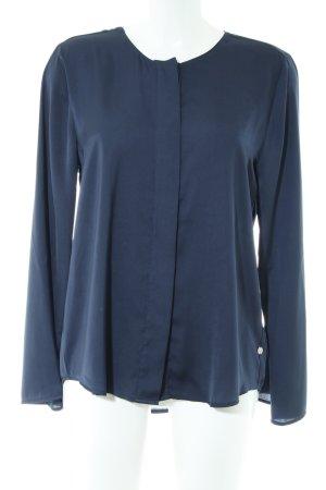 Milano Italy Langarm-Bluse blau Business-Look