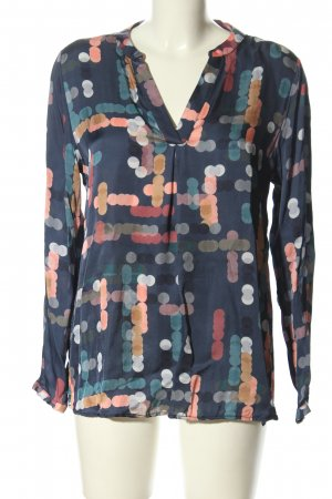Milano Italy Langarm-Bluse abstraktes Muster Casual-Look