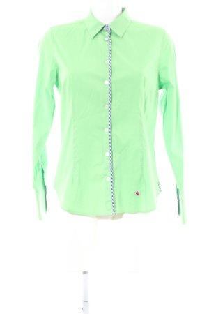 Milano Italy Langarm-Bluse grün Casual-Look