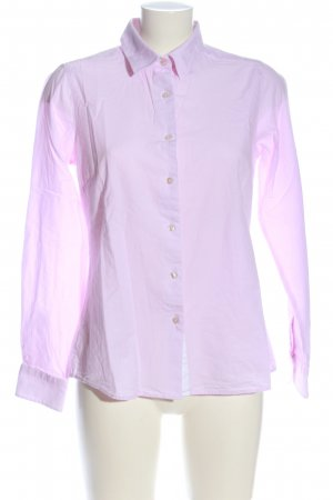 Milano Italy Langarmhemd pink-weiß Allover-Druck Casual-Look