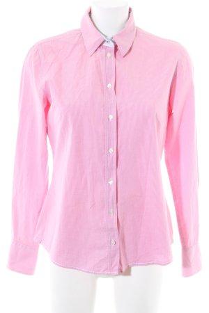 Milano Italy Langarmhemd pink-weiß Karomuster Casual-Look