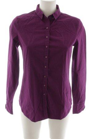 Milano Italy Langarmhemd violett Casual-Look