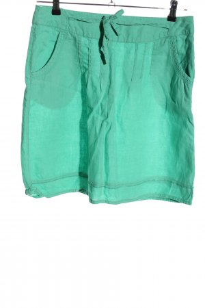 Milano Italy Linen Skirt turquoise casual look