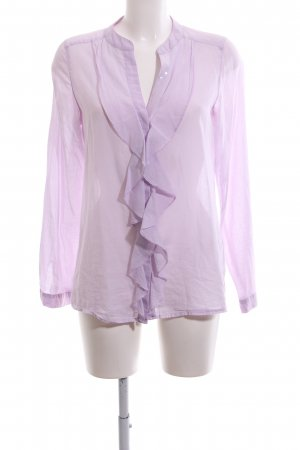 Milano Italy Rüschen-Bluse lila Business-Look