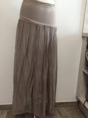 Milano Italy Silk Skirt grey brown