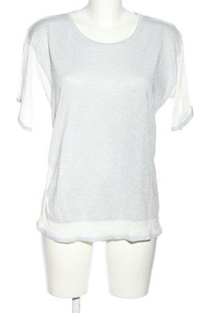 Milano Italy Strickshirt hellgrau-weiß meliert Casual-Look