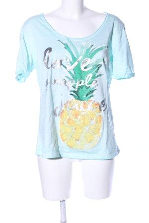 Milano Italy T-Shirt blau Motivdruck Casual-Look