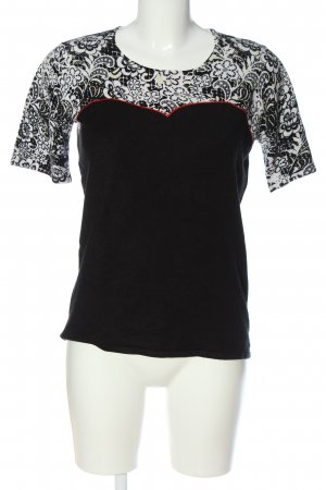 Milano Short Sleeved Blouse abstract pattern casual look