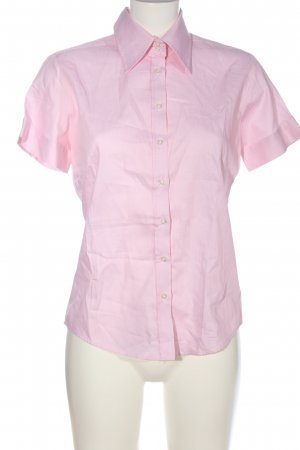 Milano Short Sleeve Shirt pink-white striped pattern casual look