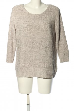 Milano Short Sleeve Sweater natural white-light grey flecked casual look